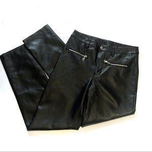 BB Dakota Faux leather moto zipper skinny pants